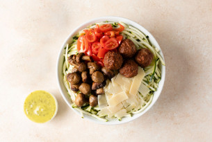 A vegan bowl with Beyond Meat from Just Salad