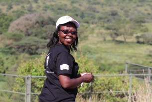 A photo of Edith Kabesiime in Africa