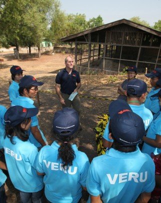 Group of vets being trained by World Animal Protection