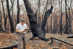 Gerardo Huertas visits Australian bushfire site to assess damage