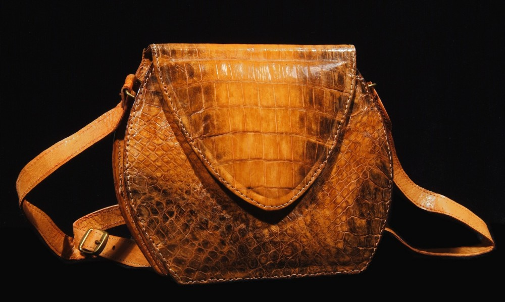 bag made from crocodile skin