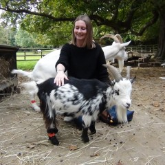 Gemma Carder with a goat