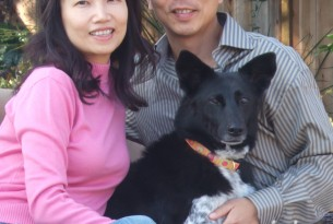 Olivia Hu and her family