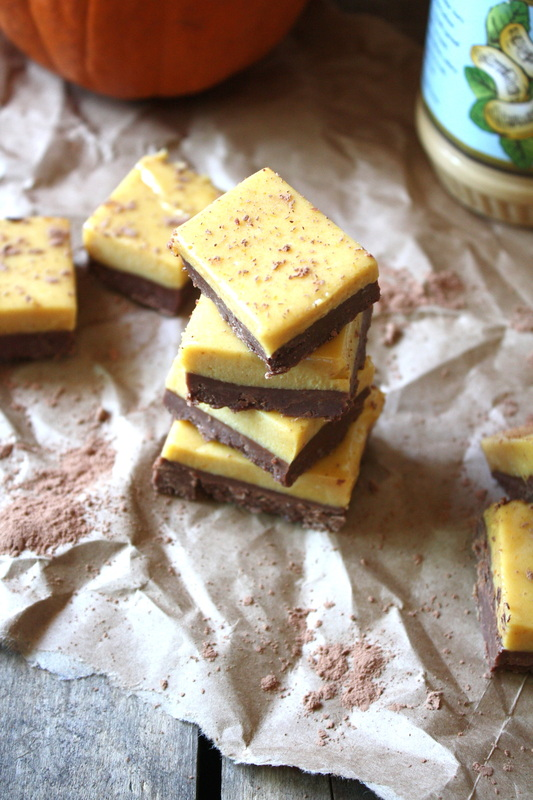 Pumpkin Chocolate Freezer Fudge