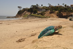 Fiona the turtle, made entirely of recycled ghost gear