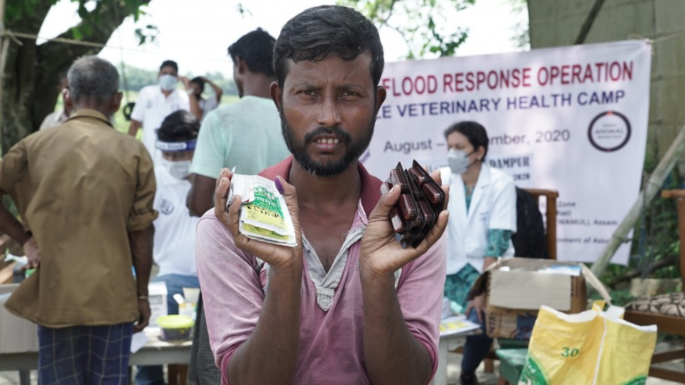 disasters, medicines provided to people in assam flood