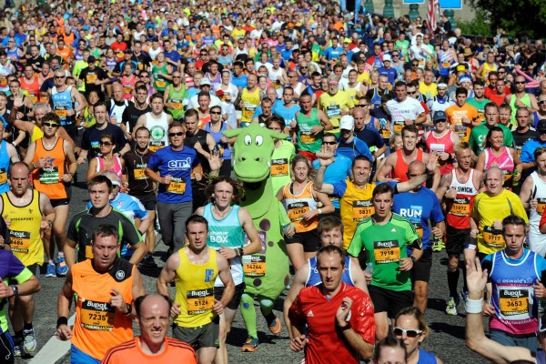 Charity runners in the Great North Run