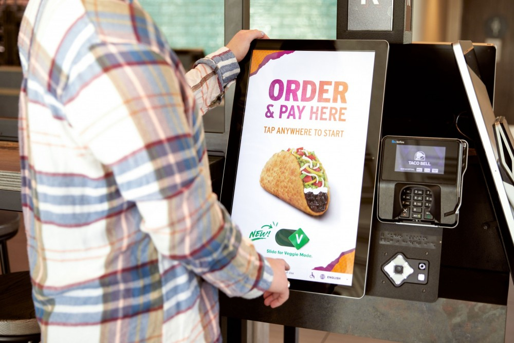 Taco Bell's new Veggie Mode can be used on their kiosks.