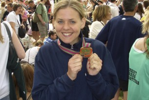 World Animal Protection supporter with medal from London Marathon