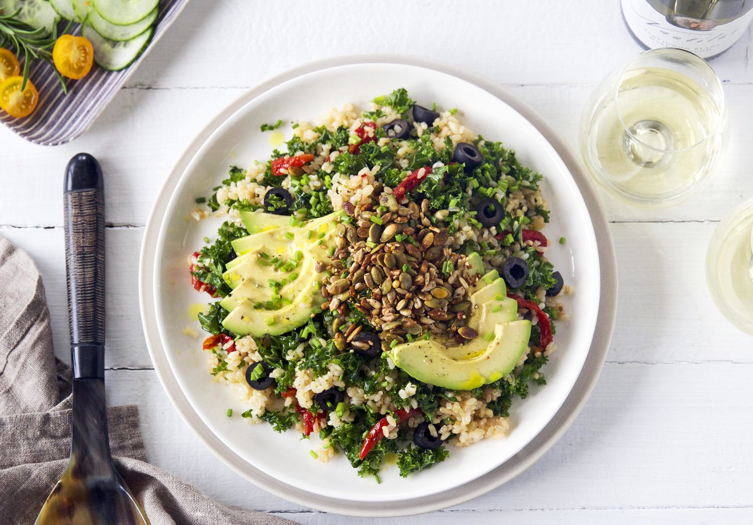 Brown rice salad from Kelly Gibney blog.
