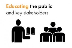Graphic - educating the public and key stakeholders.