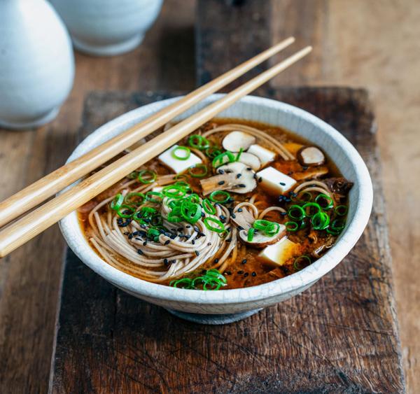 Miso mushroom soup from Stuck in The Kitchen blog.