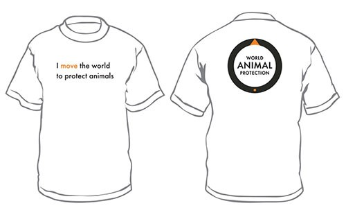 World Animal Protection t-shirt merchandise