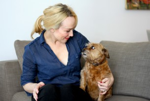Susie Porter and her dog Gracie
