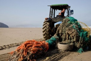 Ghost gear removed from Cornish beach