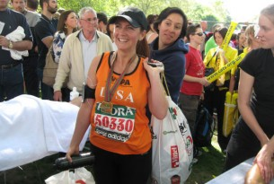 Lisa Degeir-Mawdsley who ran the London Marathon UK, in April 2009 on behalf of World Animal Protection