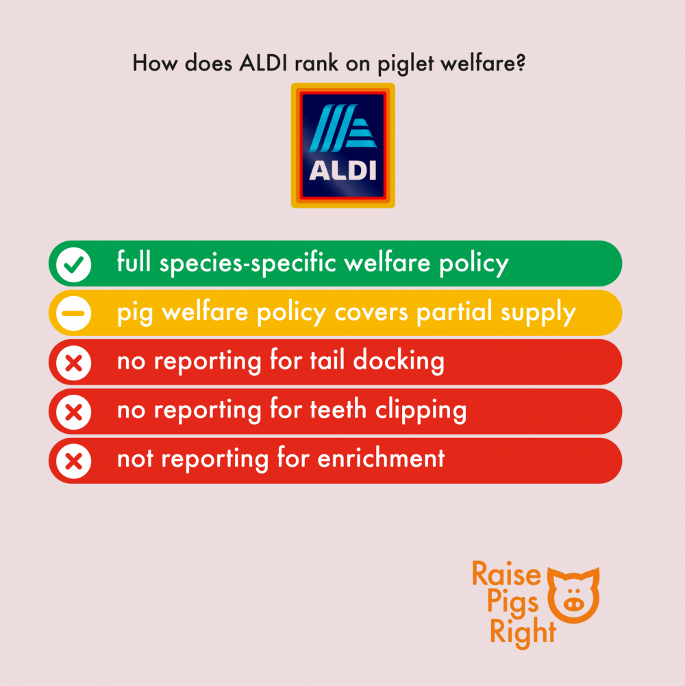 Raise Pigs Right - UK Supermarket Scorecard 2020 (Aldi)