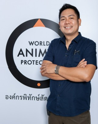 Pictured: Gilbert Sape, head of our bears and traditional medicine campaign: