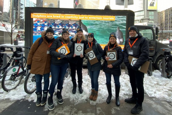 Pictured: World Animal Protection Canada team campaigning on the streets.