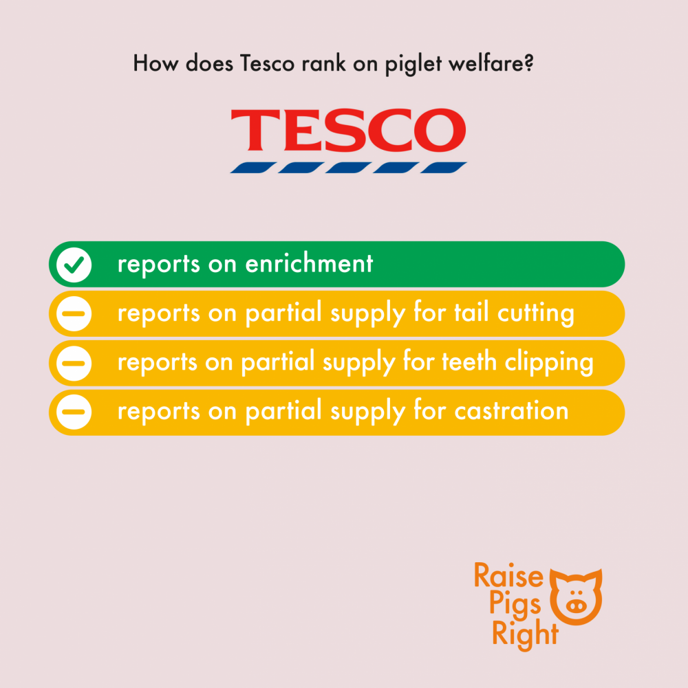 Raise Pigs Right - UK Supermarket Scorecard 2020 (Tesco)