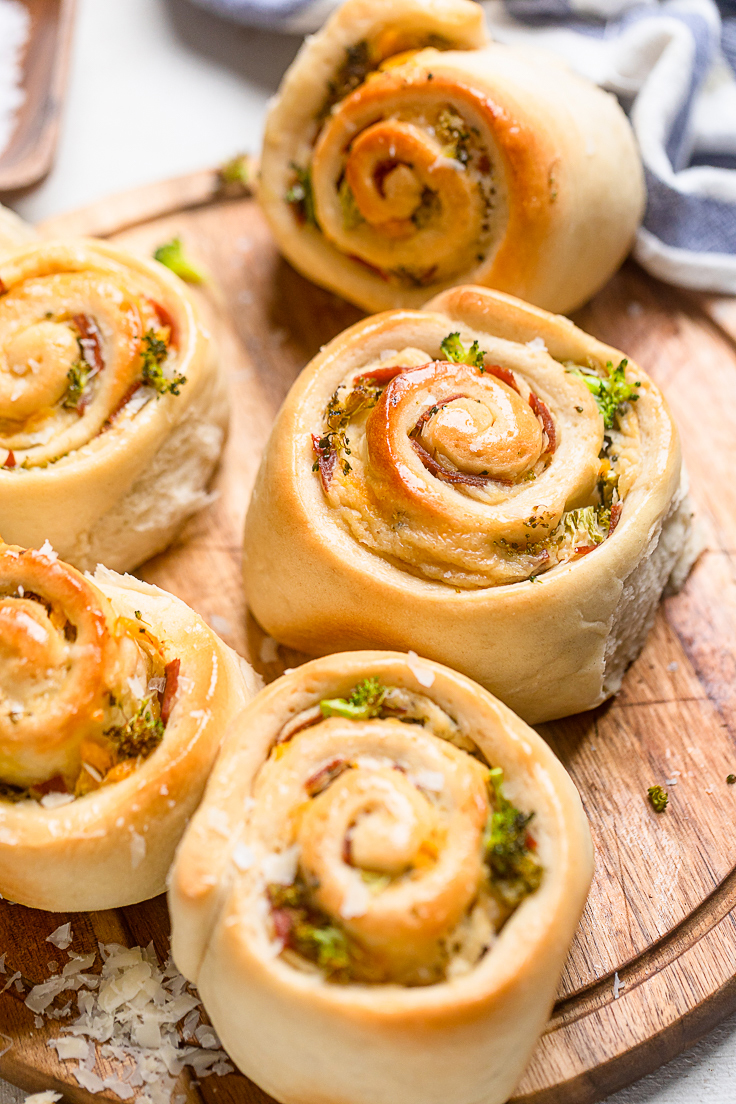 Vegan ham and cheese rolls